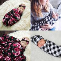 طفل جديد للأطفال حديثي الولادة طفل بنين بنات تمتد التفاف قمط حمام بطانية منشفة رائعتين الطفل الوليد الزهور منقوش قمط مجموعة