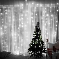 led 창 커튼 조명 144 LED 웨딩 파티에 대 한 커튼 icicle 문자열 조명 화이트 8 모드 설정 홈 정원 배경 장식