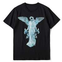 Mens Stylist camisetas Verão Camiseta Stylist Impressão Anjo Camiseta Hip Hop Homens Mulheres Moda manga curta Tees Tamanho S-XXL