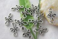 300 pz argento tibetano aperto croce pendente di fascini per gli uomini di moda europea donne gioielli gioielli collana orecchini orecchini accessori 16x10mm
