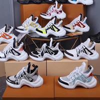 Tasarımcı Lüks kadın Spor ayakkabı Erkekler Hakiki Deri Eğitmenler TPU Taban Rahat Ayakkabılar moda Kalın alt Frenulum Tırmanma Koşucu Ayakkabı