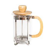 Кофейник из нержавеющей стали с бамбуковой крышкой и ручкой Френч-пресс Портативные чайные чайники GGA2630