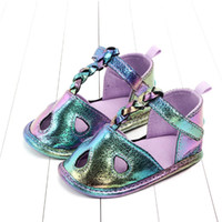 New Mermaid baby shoes baby girl shoes Summer glisten infant...