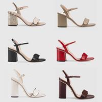 2021 Lusso Tacchi alti in pelle Sandalo Sandalo Suede Mid-Heel 7-11cm Designer Sandali Sandali Summer Beach Sale Sexy Scarpe da sposa taglia 35-40 con scatola