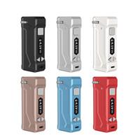 Orijinal Yocan UNI Pro Kutu Mod 650mA Onceden Akü Gerilimi Ayarlanabilir E Sigara Mikro USB Şarj DHL ile Fit Tüm Kartuşlar Arabaları