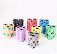 produits animaux sac d'excréments de chien biodégradables 150 rouleaux différentes couleurs belle bande d'ordures livraison gratuite DHL