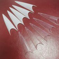 Extra Long Effacer Stiletto faux ongles en acrylique Conseils Salon Gel Demi couverture Faux Conseils Nail Salon