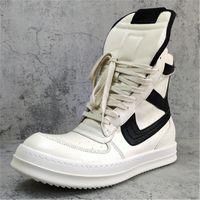 Ro botas de cuero de alta Top zapatillas de deporte de invierno para los hombres del tamaño grande de los zapatos de los hombres de invierno 14 # 25 / 20d50