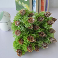 7 Branches Pine Nuts Cones Artificial Plastic Pine Fake Plan...