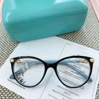 2020 جديد الاسلوب Exqusite TF2213 النساء نظارات إطار 52-18-140 اصطناعية لؤلؤة الديكور إيطاليا لوح لوصفة طبية نظارات التعبئة fullset