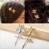 أزياء بسيطة 1 شكل سبيكة دييكاست النحل دبوس الذهب والفضة مطلي للمرأة مقطع الشعر هدية