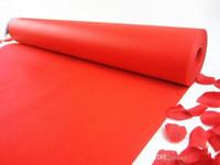 20M / roll New mariage Favors rouge Centerpieces Tissu Tapis Nonwoven Aisle Runner Pour Wedding Party Supplies Décoration de tir Props