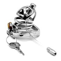 Мужской целомудрие устройство целомудрие замок клетка из нержавеющей стали SM продукты кольца с силиконовым катетером секс-игрушки для мужчин G7-1-253B