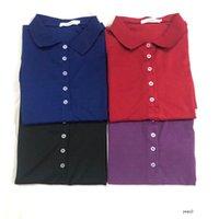 Lacoste Men 여자 디자이너 악어 폴로 드레스 자수 장식은 캐주얼 여름 드레스 라펠 넥 A 라인 p1V557는 여자
