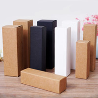 50pcs lot 4x4x16cm 55x55x170mm White black kraft Paper Box D...