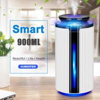 Горячая 900мл Ультразвуковой увлажнитель воздуха USB Эфирное масло Диффузор 7Color Форсунка освежитель Mist чайник со светодиодной лампы Свет для дома