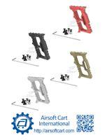 ACI Halo Minivert Grip Foregrip Angled Arrêter la main Handstop pour keymod MLOK MLOK légère (Noir / Rouge / Brun / Argent)
