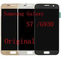 ОРИГИНАЛЬНЫЙ 5.1 '' СУПЕР AMOLED Дисплей Для SAMSUNG Galaxy S7 G930P G930A G930V G930T ЖК-Дигитайзер Ассамблеи Замена, бесплатная доставка