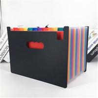 مجلدات الملفات المحمولة الأكورديون A4 الملف القابل للتوسيع المنظم سعة كبيرة متعدد الألوان حامل صندوق الإيداع الأعمال