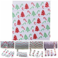 "5 8"" heat transfer Christmas tree gift candy stripes dots fold over elastic foe elastic for headband ties welcome custom printed"