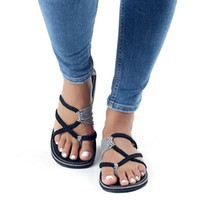 Women Spring and Summer Fashion Bandage Sandals Casual Open ...