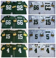 NCAA Football 92 Reggie White 4 Brett Favre Jersey 15 Bart Starr 66 Ray Nitschke 5 Paul Hornung 89 Джеймс Джонс Зеленый Белый Человек Винтаж