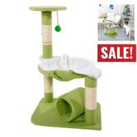 Кошка дерево башня кондоминиум 28 дюймов мебель Когтеточка домашнее животное котенок играть игрушки дом Скалолазание центр активности ягненок зеленый новое поступление