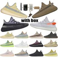 2020 최고 품질의 Kanye West 남성 여성 운동화 yeecheil yeezreel hyperspace lundmark antlia 정적 반사 얼룩말 디자이너 신발 36-48