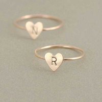 26 A- Z English Letter Ring English Initial Ring Silver Gold ...