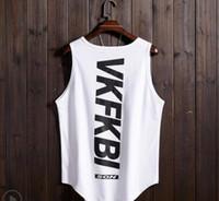 2019 패션 농구 저지 성격의 경향 힙합 캐주얼 느슨한 조끼 민소매 티셔츠 탑