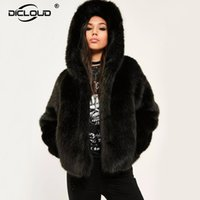 Women Winter Hooded Faux Fur Coats Jackets Thicken Warm Oute...