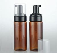 새로운 황색 플라스틱 거품 비누 디스펜서 컨테이너 온스 거품 비누 - 분배 폼 로션 펌프 병 병 비우기 150ML