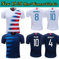 ece8286b5 Copa America Soccer Jerseys 2019 USA World Cup HOME Away Customized DEMPSEY  DONOVAN BRADLEY PULISIC American Football Uniform Shirts United