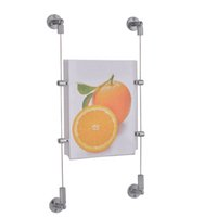 (Paquet / 2 unités) Système mural Câble Kit avec 2 appareils et 3m de câble d'acier long pour système de suspension au plafond par câble YLPDH-006