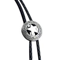 Recién llegado estrella de la moda bolo tie elegantes accesorios de corbatas de los hombres de aleación de alta calidad bolo Lazo cuello de la camiseta ocasional
