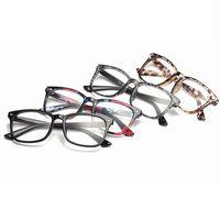 레트로 사각형 광학 안경 고전적인 전체 프레임 남성 여성 컴퓨터 클리어 고글 안경 유니섹스 읽기 Eyewear LJJT1030-6