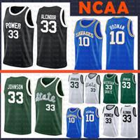 Savages High School Dennis 10 Rodman College Basketball Jersey Earvin 33 Johnson St. Joseph's University of Michigan