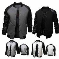 2019 дизайнер мужской футболка новый большой карман кожаный рукав мужской бейсбол куртка британской моды воротник пальто мужские куртки дизайнер WGJK09
