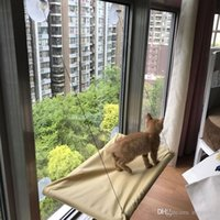 Envío gratuito venta caliente nueva ventana Monte Cama del gato del animal doméstico Hamaca camas para mascotas Con Color Box El paquete 24set / lot