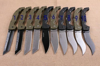 NEWER SOĞUK ÇELİK Voyager'in dogleg köpek bacak ABS titanyum Katlama Kamp Survival Bıçak Noel bıçak hediye Bıçaklar 1pcs AdCO
