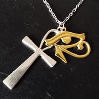 Hayat Çapraz Horus Antik Göz Ra Ankh kolye kolye Tanrı Mısır Muska Salkım Guarding Evil Ruh Mısır Yeni bir Ankh Anahtar