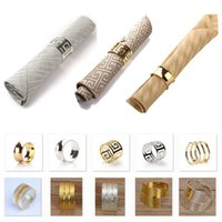 Wedding Napkin Rings Metal Napkin Holders For Dinners Parties Hotel Wedding Table Decoration Supplies Diameter DHL HH9-2656
