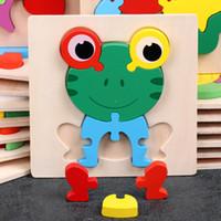 Çocuklar eğitici oyuncaklar bebek erkek ve kız hayvanlar 3d bulmacalar hediyeler için 2-3 yaşında çocuklar