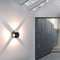 Tipo de bola redonda 6W 12W LED Lâmpada de parede ao ar livre Superfície montada À Prova D 'Água Patamar Sconce Luz para Jardim de Jardim do Corredor