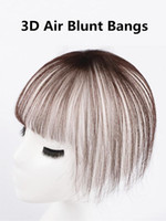 3D Air Blunt Hand Made Brazilian Human Hair Bangs Invisible ...