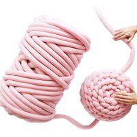 500g de tricô volumoso roving fio diy mão malha tecida cobertor fio chunky fios super grossos para tricô / crochet / tapete / chapéus t200601