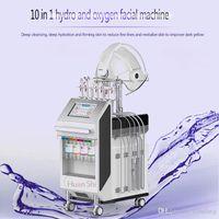 Новейшие 9 в 1 высококачественный глубокий чистый кислородный самолет с H2 O2 Вода Микродермабразие Многофункциональная машина для удаления морщин для лица