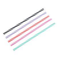 Dobrável Silicone Straw Screw duas cores linha reta da tubulação chá com leite Bebidas Cor palhas recicláveis ferramentas portáteis 1 75jdH1