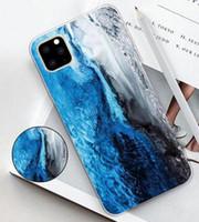 أزياء فاخرة من الرخام الهاتف القضية للحصول على 11 برو MAX 6 7 8 XR XS سامسونج Note10 S10 زائد مع وسادة هوائية حامل الهاتف