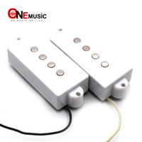 Tipo abierto cadena de 4 pastillas de precisión P de la guitarra baja para el bajo de la guitarra eléctrica partes blancas